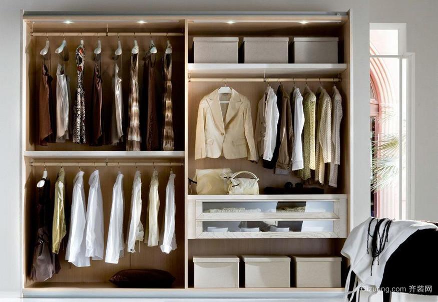 简易实用90平米单身公寓卧室衣柜设计图
