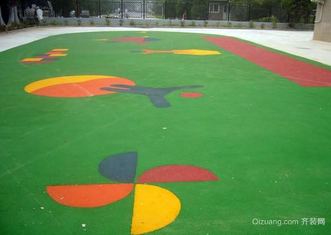 现代简约清新风格幼儿园橡胶地垫装修效果图