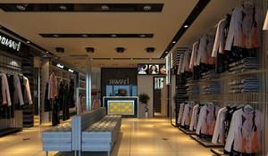 干净整洁现代小服装店装修设计效果图