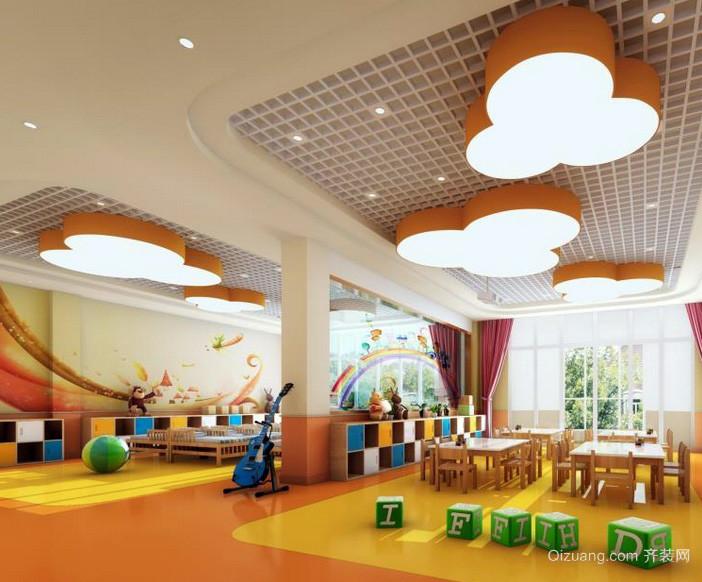 大户型高级幼儿园室内墙绘设计效果图
