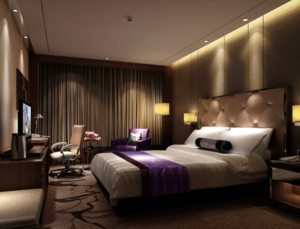 都市现代精致的宾馆装修效果图实例欣赏