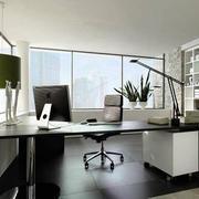 30平米都市简约风格办公室窗帘装修效果图