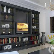 欧式深色系嵌入式电视柜装饰