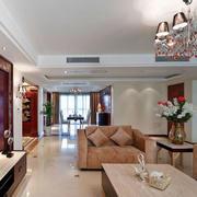 100平米现代简约风格客厅茶几装修效果图