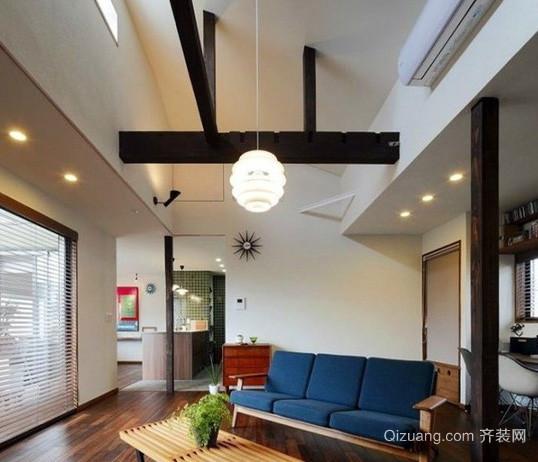 都市简约风格独栋别墅客厅装修效果图