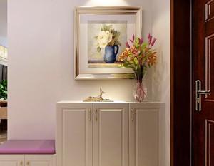 两室一厅现代简约风格进门玄关装修效果图