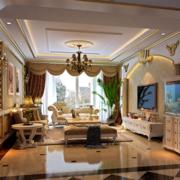 现代欧式经典的复式楼客厅装修效果图鉴赏