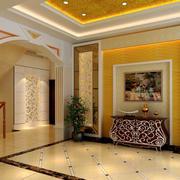 别墅简欧风格奢华客厅玄关装修效果图