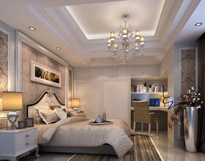 复式楼欧式风格奢华卧室装修效果图