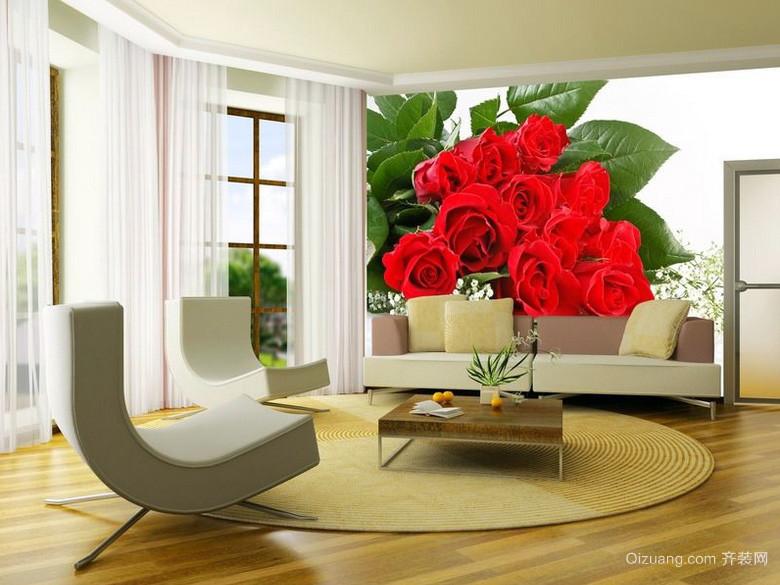 甜美大户型新房室内墙绘设计效果图