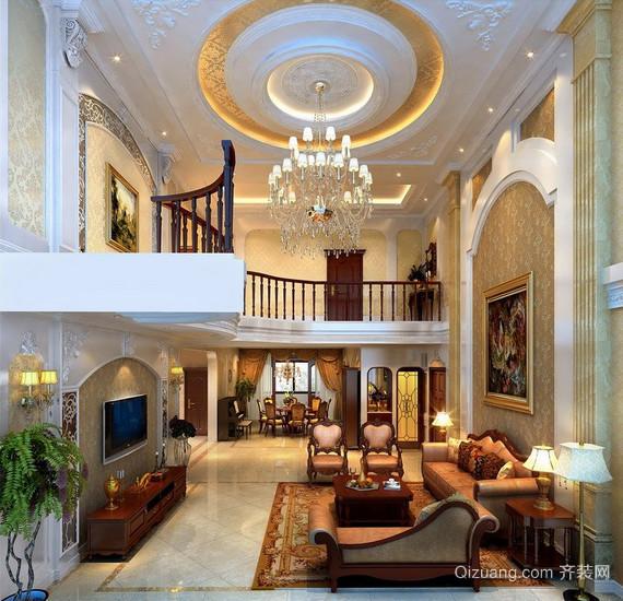 2016大户型现代简约客厅装修效果图实例欣赏