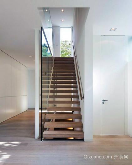 118平米现代简约风格阁楼楼梯装修效果图