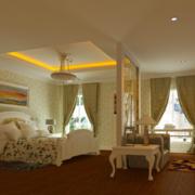 2016现代欧式小公寓卧室装修效果图鉴赏