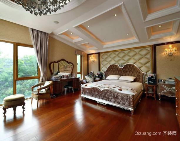 180平米欧式简约风格独栋别墅卧室装修图
