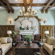 别墅美式客厅展示