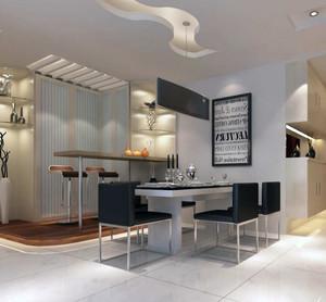 现代餐厅整体设计图