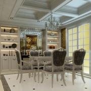 都市现代精致的小公寓餐厅装修效果图鉴赏
