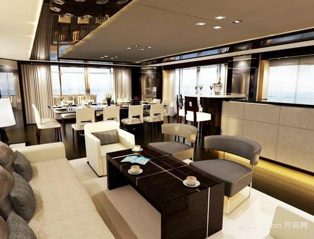 私人会所后现代风格客厅茶几装修效果图