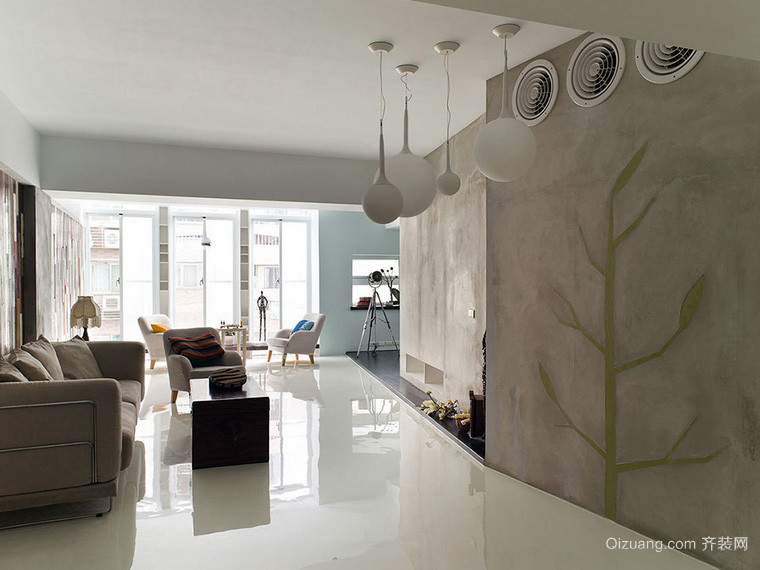 简约独特大户型别墅装潢设计效果图