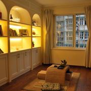 三居室自然风格书房设计装修效果图
