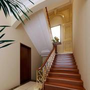 120平米欧式简约风格复式楼楼梯装修效果图