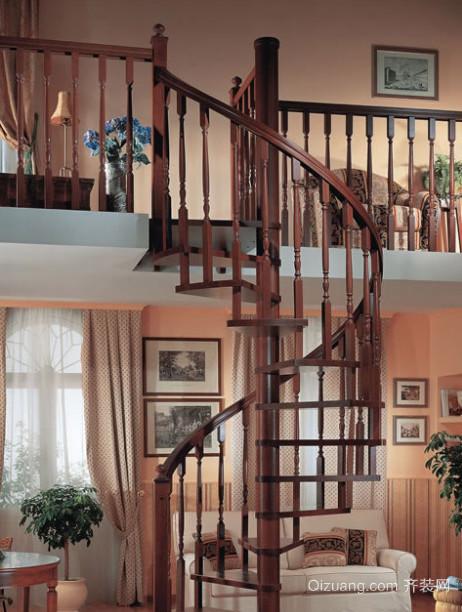 2016欧式大户型室内楼梯设计装修效果图