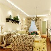 韩式田园风格客厅背景墙装饰