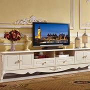 欧式田园风格客厅电视柜装饰