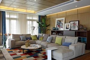 别墅客厅舒适大沙发展示