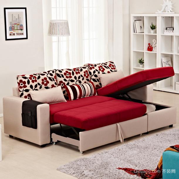 唯美女神90平米公寓客厅功能沙发图片