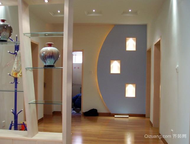 复式楼日式简约风格客厅玄关装修效果图