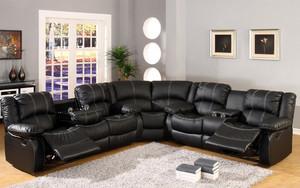 现代别墅客厅大型转角功能沙发装修图片