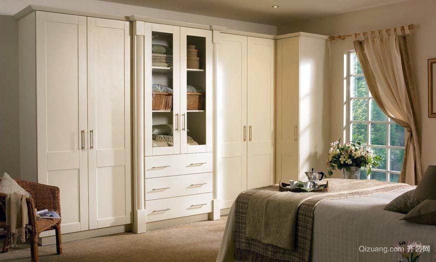 现代素雅20平米卧室简易衣柜设计效果图