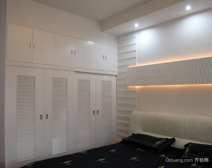 精致18平米小卧室简易衣柜设计图