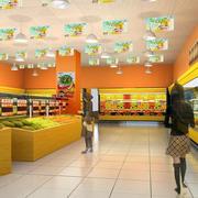 超市简约风格吊顶装饰