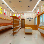 现代简约风格超市石膏板吊顶装饰