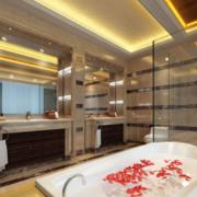 90平米现代欧式大户型厕所装修效果图大全