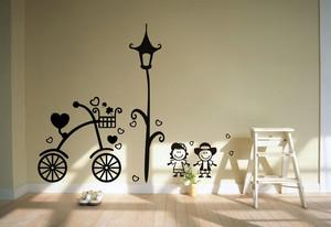 现代简约小户型室内过道墙绘设计效果图