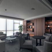 欧式简约20平米小型公司办公室设计装修效果图