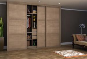 大户型卧室实木衣柜设计效果图片