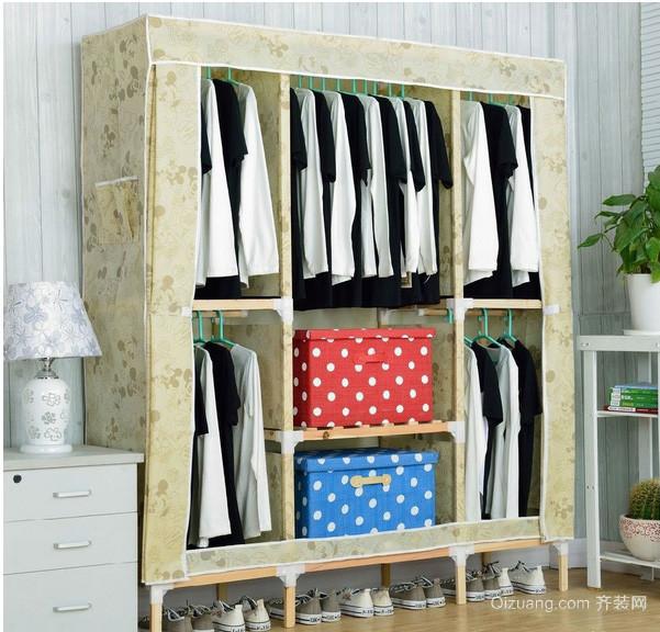 田园风格小户型卧室简易衣柜设计图