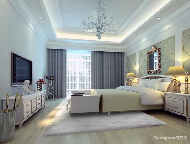 2016 大户型欧式卧室 床头背景 墙装修 效果图 鉴