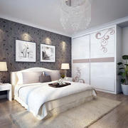 两室一厅现代简约风格卧室装修效果图