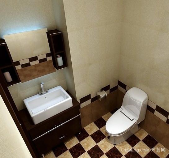 跃层清爽系列卫生间装修效果图