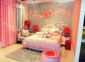 110平米浪漫型婚房布置图片