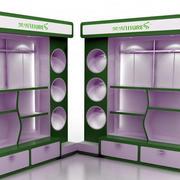80平米小型零食店展台装修效果图