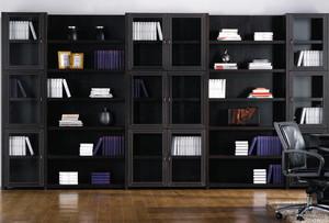 单身公寓实木书柜图片大全