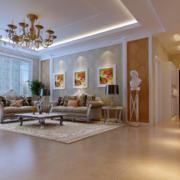 120平米大户型欧式沙发背景墙装修效果图