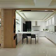 200平米复式楼精致厨房不锈钢橱柜效果图