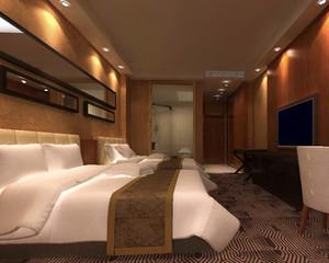 40平米后现代风格商务酒店卧室装修效果图